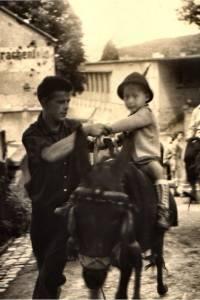 Willi auf dem Esel (Drachenfels 1957/58)