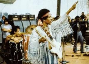 Jimi Hendrix live 1969 in Woodstock