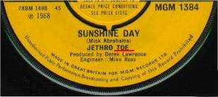 Jethro Tull: Sunshine Day (1. Single 1968)