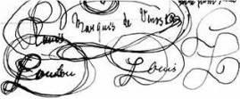 Thomas Mann übt Felix Krulls Handschrift