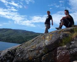 Lukas & Jan am Loch Duich