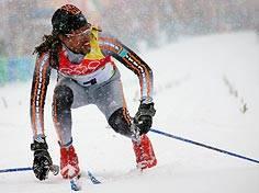 Rastaman auf Skiern