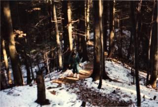 Christa im rumänischen Wald