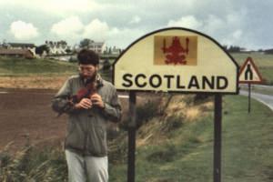 Grenze zu Schottland - Willi als Bagpiper