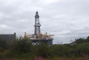 Erdölbohrturm in der Nordsee