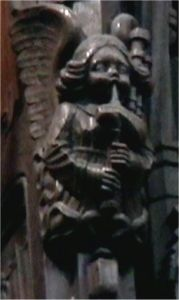 dudelsackspielender Engel