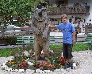 'Denkmal' für Bruno, den Bären, in Grainau