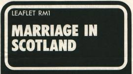 Leaflet (Flyer): Marriage in Scotland