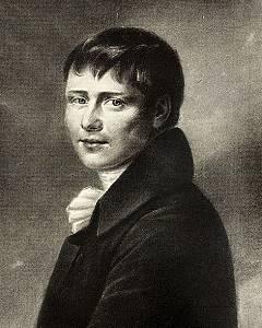 Heinrich von Kleist, Reproduktion einer Illustration von Peter Friedel