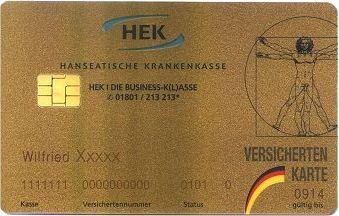 Blendwerk: Goldene Versichertenkarte