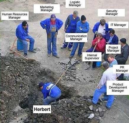 Herbert arbeitet