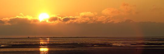 John Keats: An die Hoffnung (Sonnenuntergang Neuwerk 2009)