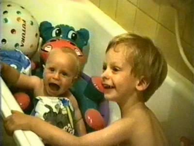 Meine Jungs im Bade (11.08.1994)