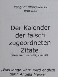Der Kalender der falsch zugeordneten Zitate 2012 (© Jan Albin)