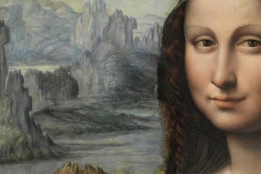 Ausschnitt aus der 'neuen' Mona Lisa (Prado, Madrid)