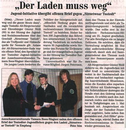 Jugend-Initiative gegen Nazi-Laden