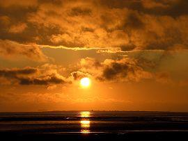 Sonnenuntergang auf der Insel Neuwerk (Juli 2009)