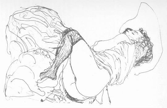 Zeichnung von Gustav   K l i m t