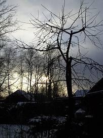 Abendlicher Schneehimmel
