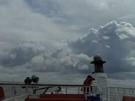 Abfahrt von Cuxhaven nach Neuwerk mit der MS Flipper