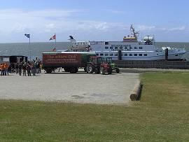 Insel Neuwerk - Ankunft mit der MS Flipper