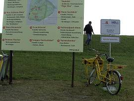 Dienstbereites Fahrrad für den Postboten auf Neuwerk
