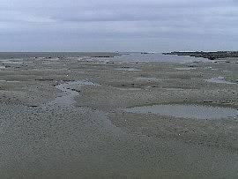 Wattenmeer bei der Insel Neuwerk: Priele