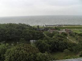Blick Richtung Süden zum Jachthafen