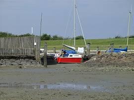 trocken gelegter Jachthafen von Neuwerk