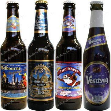 Melbourne Christmas Lager / Tucher Christkindlesmarkt Bier / The Raven Christmas Lager / Vestfyen Julebryg