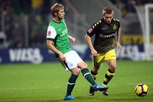 BL 2009/10 12. Spieltag Werder Bremen - Borussia Dortmund (Aaron Hunt)