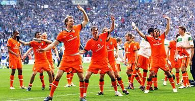 Nach Werders 2:0-Sieg auf Schalke am 01.05.2010