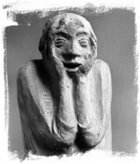 Ernst Barlach (1870-1938): Das Grauen 1923, getönter Gips, 44 x 21,2 x 18 cm © Ernst Barlach Stiftung Güstrow, Foto: Uwe Seemann, Barlachstadt Güstrow