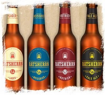 Hamburger Lieblingsbox: Ratsherrn Lager – Weißbier – Rotbier – Pale Ale