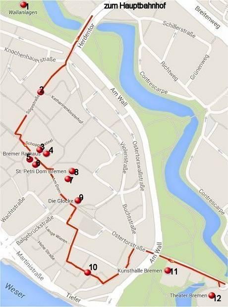 Rundgang durch Bremens Innenstadt (Altstadt)