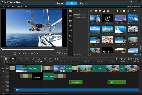 Corel VideoStudio Pro X8 (hier: englische Version)