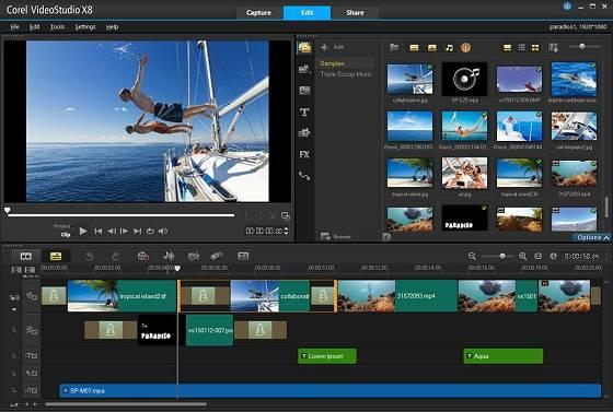 Corel VideoStudio Pro X8 (hier: englische Version)