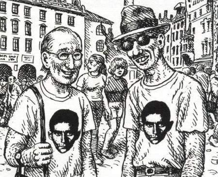 Selbstportrait Robert Crumb (re.) mit David Zane Mairowitz (im Buch auf Seite 165)