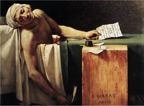 Jacques-Louis David: Der Tod des Marat (Ausschnitt)