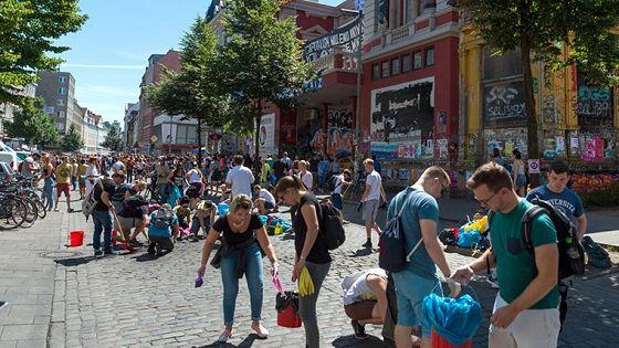 Hamburg räumt auf – Schulterblatt/Schanzenviertel in Hamburg am 09.07.2017