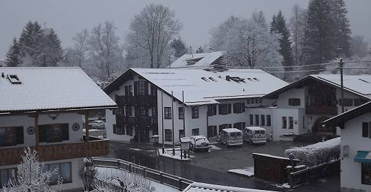Schneefall in Grainau am Ostersonntag 2012