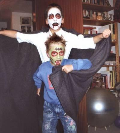 Unsere Kinder zu Halloween 2001