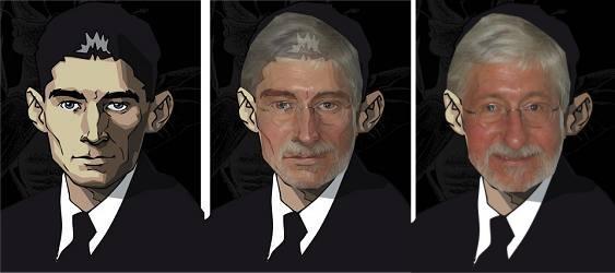 Vom Franz zum Willi (wie aus Kafka ein Albin wird, wenn auch nur grafisch)