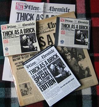 Jethro Tull: Thick as a Brick – LP 1972 – Remaster CD 1997 – neuer Remix CD/DVD 2012