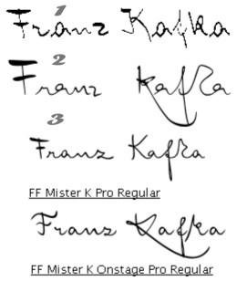 Fonts mit Kafkas Handschrift