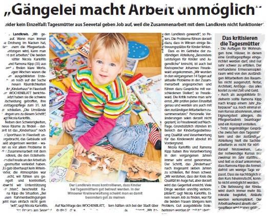 Ausschnitt aus Kreiszeitung-Wochenblatt Nordheide vom 30.04.2016 (S. 36)