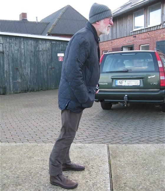 Hallig Langeneß Dezember 2016: Willi im Sturm (...das zieht einem glatt die Unterhose aus!