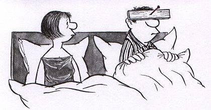 Wie es auch sei, Ihre Frau kann jedenfalls nichts dafür. (© Loriot)