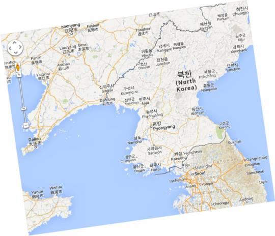 Karte Nordkorea – © Google Maps