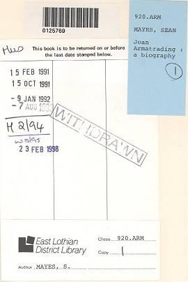 Sean Mayes: Joan Armatrading - A Biography (1990)